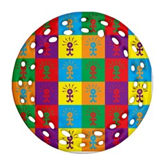 Multi Coloured Lots Of Angry Babies Icon Ornament (Round Filigree)