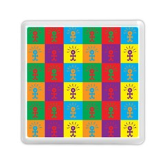 Multi Coloured Lots Of Angry Babies Icon Memory Card Reader (Square)