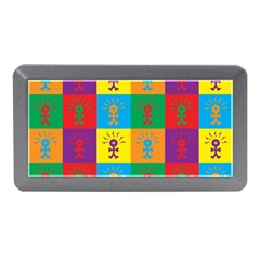 Multi Coloured Lots Of Angry Babies Icon Memory Card Reader (Mini)