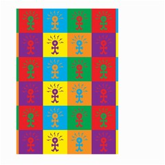 Multi Coloured Lots Of Angry Babies Icon Large Garden Flag (Two Sides)