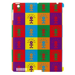 Multi Coloured Lots Of Angry Babies Icon Apple iPad 3/4 Hardshell Case (Compatible with Smart Cover)