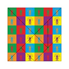 Multi Coloured Lots Of Angry Babies Icon Acrylic Tangram Puzzle (6  x 6 )