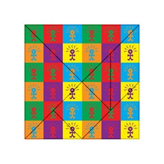 Multi Coloured Lots Of Angry Babies Icon Acrylic Tangram Puzzle (4  x 4 )
