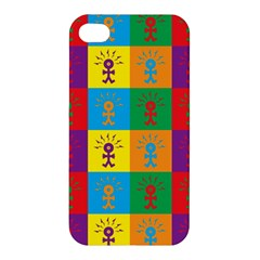 Multi Coloured Lots Of Angry Babies Icon Apple iPhone 4/4S Premium Hardshell Case