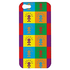 Multi Coloured Lots Of Angry Babies Icon Apple iPhone 5 Hardshell Case