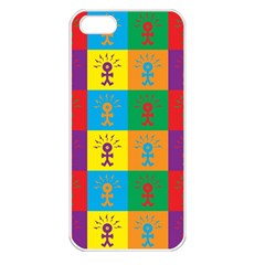Multi Coloured Lots Of Angry Babies Icon Apple iPhone 5 Seamless Case (White)