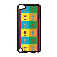 Multi Coloured Lots Of Angry Babies Icon Apple iPod Touch 5 Case (Black)