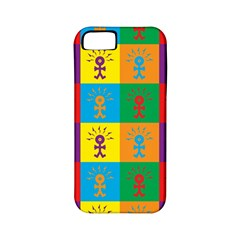 Multi Coloured Lots Of Angry Babies Icon Apple iPhone 5 Classic Hardshell Case (PC+Silicone)