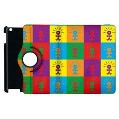 Multi Coloured Lots Of Angry Babies Icon Apple iPad 3/4 Flip 360 Case