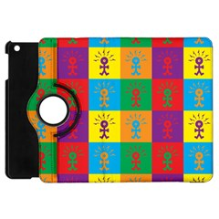 Multi Coloured Lots Of Angry Babies Icon Apple iPad Mini Flip 360 Case