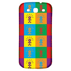 Multi Coloured Lots Of Angry Babies Icon Samsung Galaxy S3 S III Classic Hardshell Back Case