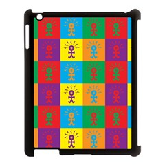 Multi Coloured Lots Of Angry Babies Icon Apple iPad 3/4 Case (Black)
