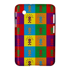 Multi Coloured Lots Of Angry Babies Icon Samsung Galaxy Tab 2 (7 ) P3100 Hardshell Case