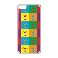 Multi Coloured Lots Of Angry Babies Icon Apple iPhone 5C Seamless Case (White)