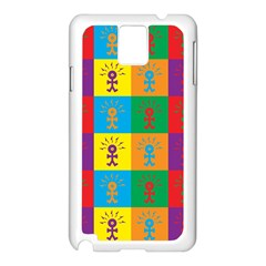 Multi Coloured Lots Of Angry Babies Icon Samsung Galaxy Note 3 N9005 Case (White)