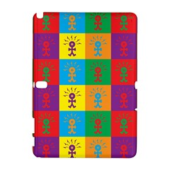 Multi Coloured Lots Of Angry Babies Icon Samsung Galaxy Note 10.1 (P600) Hardshell Case
