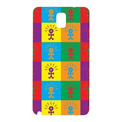 Multi Coloured Lots Of Angry Babies Icon Samsung Galaxy Note 3 N9005 Hardshell Back Case