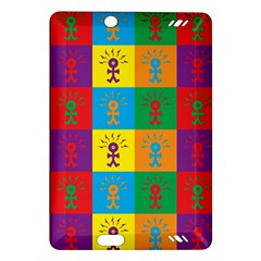 Multi Coloured Lots Of Angry Babies Icon Kindle Fire HD (2013) Hardshell Case