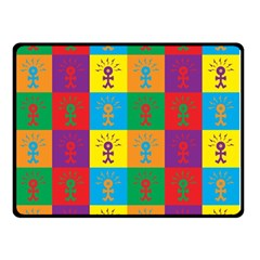 Multi Coloured Lots Of Angry Babies Icon Double Sided Fleece Blanket (small)