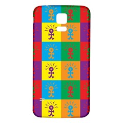 Multi Coloured Lots Of Angry Babies Icon Samsung Galaxy S5 Back Case (White)