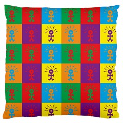 Multi Coloured Lots Of Angry Babies Icon Standard Flano Cushion Cases (Two Sides)
