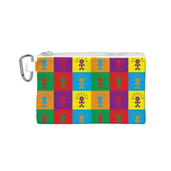 Multi Coloured Lots Of Angry Babies Icon Canvas Cosmetic Bag (S)