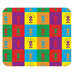 Multi Coloured Lots Of Angry Babies Icon Double Sided Flano Blanket (Small)