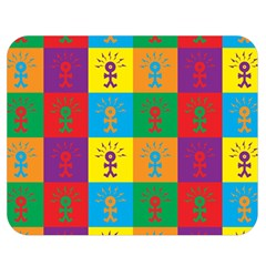 Multi Coloured Lots Of Angry Babies Icon Double Sided Flano Blanket (Medium)