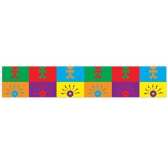 Multi Coloured Lots Of Angry Babies Icon Flano Scarf (Large)