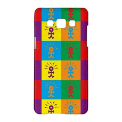 Multi Coloured Lots Of Angry Babies Icon Samsung Galaxy A5 Hardshell Case