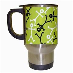 Spiral Icon Travel Mugs (white)