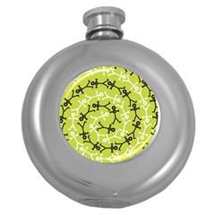 Spiral Icon Round Hip Flask (5 oz)