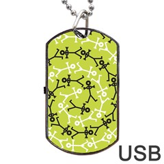 Spiral Icon Dog Tag Usb Flash (one Side)