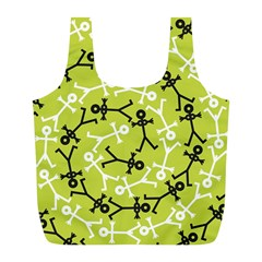 Spiral Icon Full Print Recycle Bags (L)