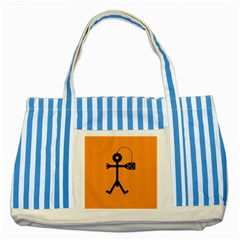 Video Gaming Icon Striped Blue Tote Bag