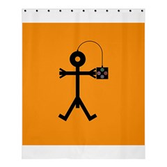 Video Gaming Icon Shower Curtain 60  x 72  (Medium)