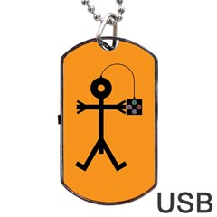 Video Gaming Icon Dog Tag Usb Flash (one Side)