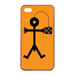 Video Gaming Icon Apple iPhone 4/4s Seamless Case (Black)