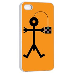 Video Gaming Icon Apple Iphone 4/4s Seamless Case (white)