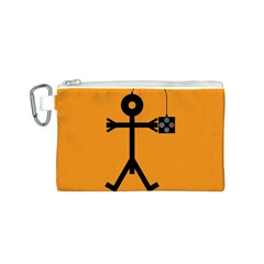 Video Gaming Icon Canvas Cosmetic Bag (S)