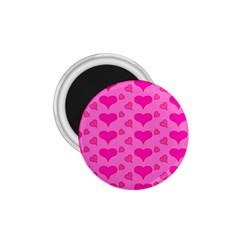 Hearts Pink 1.75  Magnets