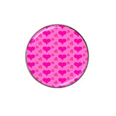 Hearts Pink Hat Clip Ball Marker (4 pack)