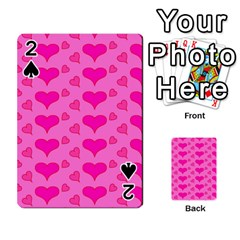 Hearts Pink Playing Cards 54 Designs