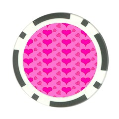 Hearts Pink Poker Chip Card Guards