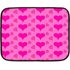 Hearts Pink Fleece Blanket (Mini)