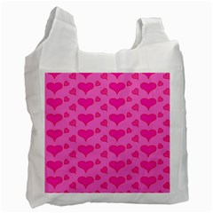Hearts Pink Recycle Bag (Two Side)
