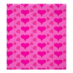 Hearts Pink Shower Curtain 66  x 72  (Large)