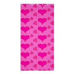 Hearts Pink Shower Curtain 36  X 72  (stall)