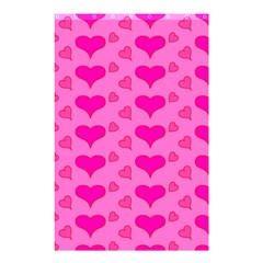 Hearts Pink Shower Curtain 48  x 72  (Small)