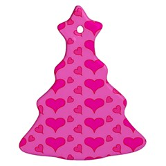 Hearts Pink Christmas Tree Ornament (2 Sides)